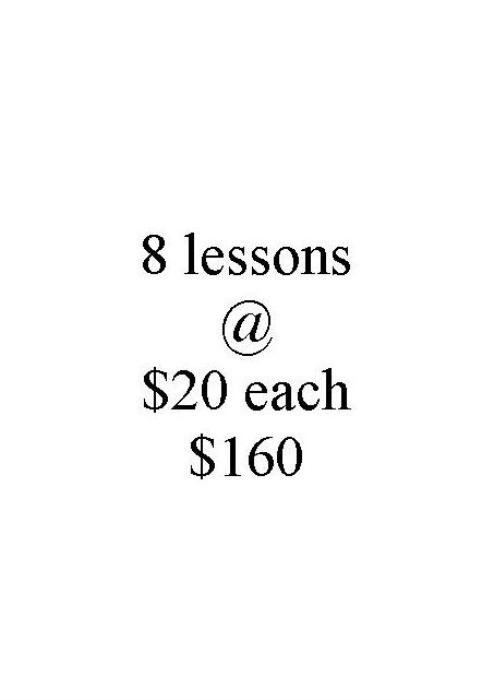 First Additional product image for - L 8 lessons