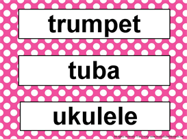 Music Word Wall-Pink Polka Dots | Other Files | Patterns and Templates