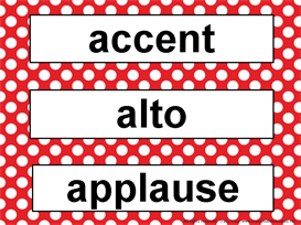 Music Word Wall Kit-Red Polka Dots | Other Files | Patterns and Templates