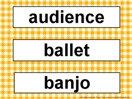 Music Word Wall Kit-Orange Gingham | Other Files | Patterns and Templates