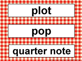 Music Word Wall Kit-Red Gingham | Other Files | Patterns and Templates