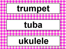 Music Word Wall Kit-Fushia Gingham | Other Files | Patterns and Templates