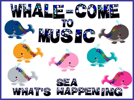 whale-come to music bulletin board kit