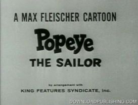 Popeye The Sailor - Vol. 4 Cartoon Collection $2.95 Per Vol. Download .Mpg .Mpeg | Movies and Videos | Animation and Anime