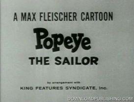 popeye the sailor - vol. 4 cartoon collection $2.95 per vol. download .mpg .mpeg