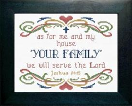 As For Me and My House Personalized | Crafting | Cross-Stitch | Other