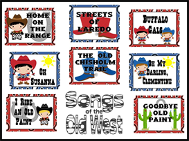 Songs of the Old West Bulletin Board Kit | Other Files | Patterns and Templates