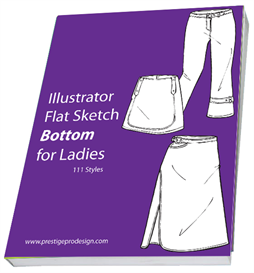 111 Styles Illustrator Flat Sketch Bottom for Ladies | Other Files | Patterns and Templates