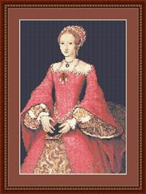 elizabeth i as princess cross stitch pattern