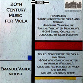 20th Century Works for Viola - Emanuel Vardi, viola | Music | Classical