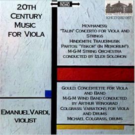 20th century works for viola - emanuel vardi, viola