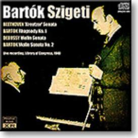 BARTOK and SZIGETI play Beethoven, Bartok and Debussy, 1940, Ambient Stereo MP3 | Music | Classical