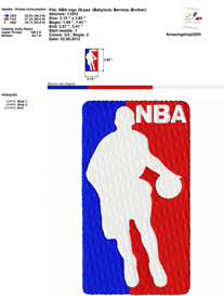 Nba Logo Embroidery Design | Crafting | Sewing | Other
