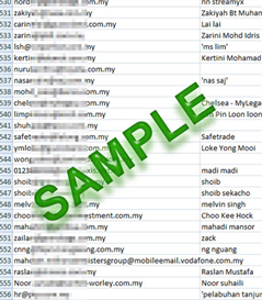 179000 Quality & Fresh Singapore & Malaysia Mix (Gorverment, Personal, Corporate & University/College) email database | Documents and Forms | Business