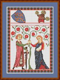 Codex Manesse No. 55 Cross Stitch Pattern | Other Files | Patterns and Templates