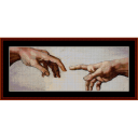 Spark of Life - Michelangelo cross stitch pattern by Cross Stitch Collectibles | Crafting | Cross-Stitch | Wall Hangings