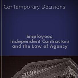 employees, independent contractors and agency (kindle)