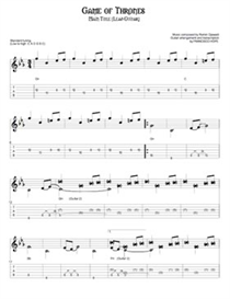 Game of Thrones GUITAR TAB | Other Files | Everything Else