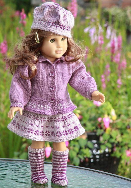 Knitting Pattern Doll Socks : DollKnittingPatterns - 0079D LISSY - SKIRT, SWEATER, PANT ...