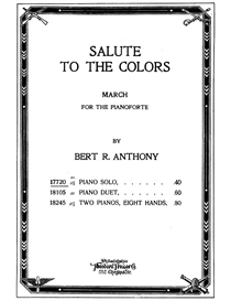 salute to the colors for the pianoforte sheet music