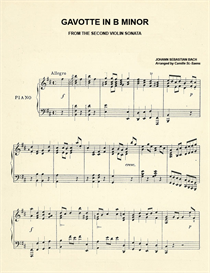 gavotte in b minor piano sheet music