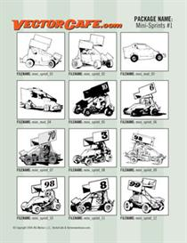 Mini Sprints Vector Clip Art #1 | Other Files | Clip Art