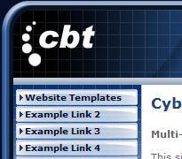 Cyber Blue Website Template Multi-Purpose Professional Website Template | Software | Design Templates