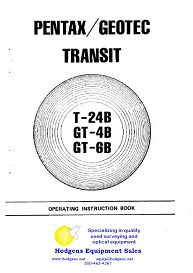 Pentax / Geotec Transit Instruction Book | Documents and Forms | Manuals