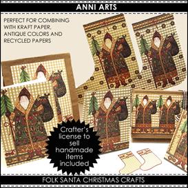 Folk Santa PDFL | Crafting | Paper Crafting | Other