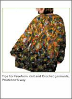 tips for freeform knit & crochet garments