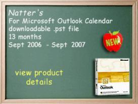Natter's On-line™ for Microsoft Outlook 2006-07