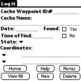 Geocache Log Book | Other Files | Documents and Forms