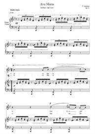 Ave Maria Soprano or Tenor- Schubert key B flat -Digital Sheet Music Download for Weddings | Music | Classical
