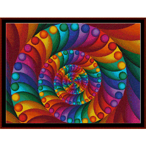 fractal 7 cross stitch pattern by cross stitch collectibles