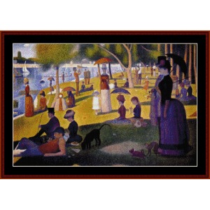 Sunday Afternoon in the Park -Seurat cross stitch pattern download