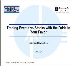 Trading Events vs. Stocks with the Odds in Your Favor by David Aferiat