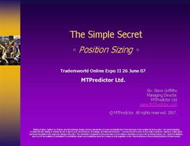 Position Sizing - the Simple Secret by Steve Griffiths | Audio Books | Business and Money