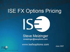 Pricing of fx options