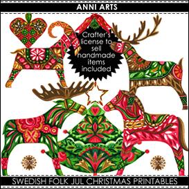 Swedish Folk Xmas Bumper Combo PDFL | Crafting | Paper Crafting | Christmas