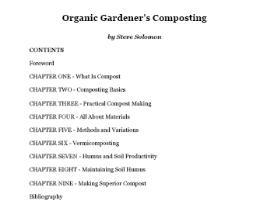 Organic Gardeners Guide Composting | eBooks | Home and Garden