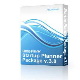 Startup Planner Package v.3.0 | Software | Business | Other