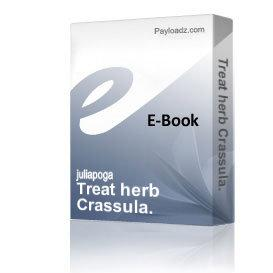 Treat herb Crassula. | eBooks | Health