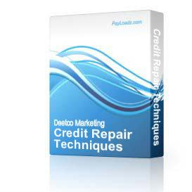 Credit Repair Techniques | Audio Books | Self-help