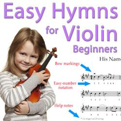 his name is wonderful - easy violin