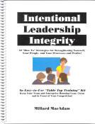 Intentional Leadership Integrity E Book