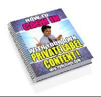 How to cash in with your own private label rights | eBooks | Business and Money