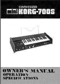 mini korg 700s univox k2 user manual