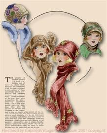 ~make a sweet 1920's cloche hat & scarf set~