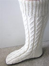 Moccasin Slipper Socks Pattern