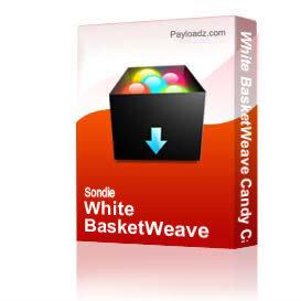 White BasketWeave Candy Cake Wrapper Set | Software | Design Templates